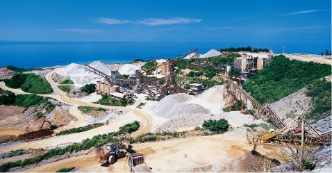 琉球セメント鉱産品部門